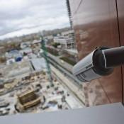 Установка видеонаблюдения на строительной площадке