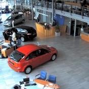 Камеры видеонаблюдения в автосалоне