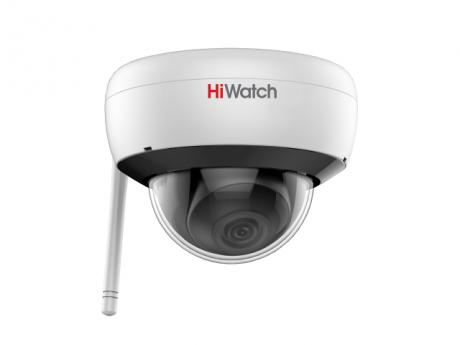 2 Мп Купольная IP-видеокамера HiWatch с EXIR-подсветкой до 30 м и Wi-Fi - DS-I252W