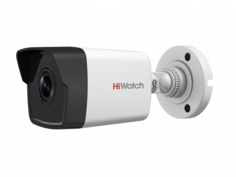 4Мп цилиндрическая IP-видеокамера HiWatch с EXIR-подсветкой до 30м - DS-I450