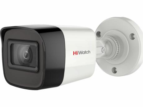 5Мп уличная цилиндрическая HD-TVI камера HiWatch с EXIR-подсветкой до 40м - DS-T520(C)