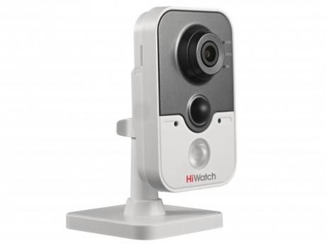 Компактная IP-видеокамера HiWatch с ИК-подсветкой до 10м и Wi-Fi - DS-I214W