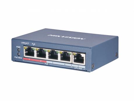 Неуправляемый PoE-коммутатор Hikvision DS-3E0105P-E(B)